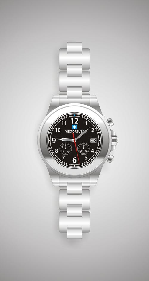 从零开始,手把手教你用CorelDraw如何绘制钢制手表