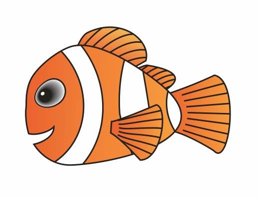 Coreldraw实例图文教程,教你用CDR绘制可爱小丑鱼