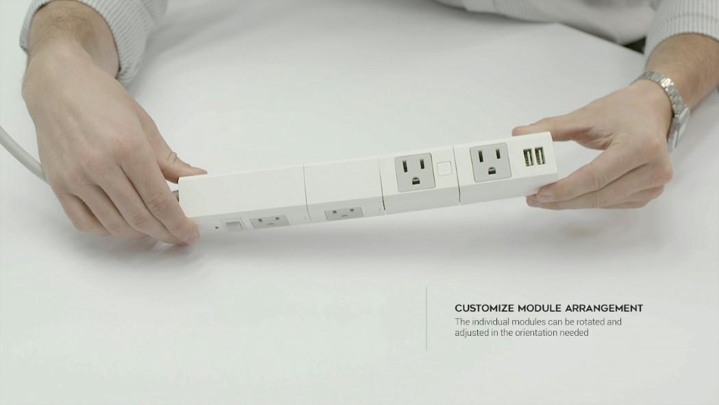 可旋转模块化插线板