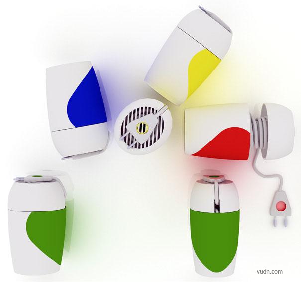 家用吹风机创意设计,家用小电器也能如此有新意