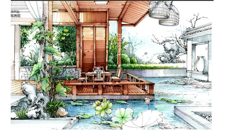 环艺景观手绘效果图欣赏,一起玩味空间吗?