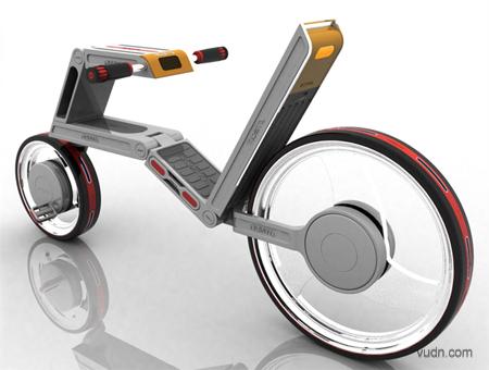 创意电动自行车设计,都市生活省心省力的代步工具