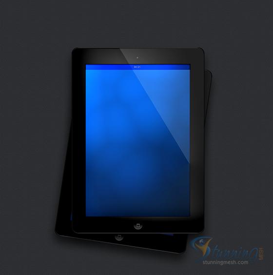 Realisitc iPad Design in Photoshop