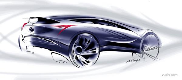 马自达MX-5敞篷车设计,设计表现异常简洁 马自达MX- 5从1989年面世以来,在市场上已经有20年的历史了。为了庆祝这款车面世20周年,马自达推出了一款特别版的speedster风格的版本,名为MX-5 超轻版。在设计方面这款车可以说是表现得异常简洁,连挡风玻璃和顶棚都没有。车子只是采用了流线型的翻滚杠来保护乘客,整体的设计步伐仍旧处于量产车和赛车之间。