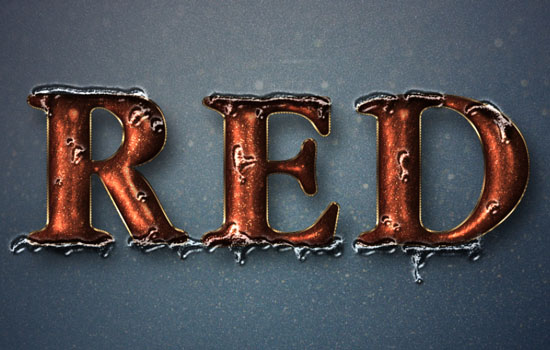 Glittering Red and Melting Ice Text Effect step 10