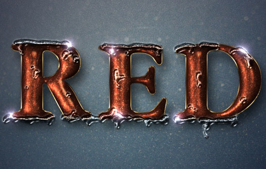 Glittering Red and Melting Ice Text Effect step 11