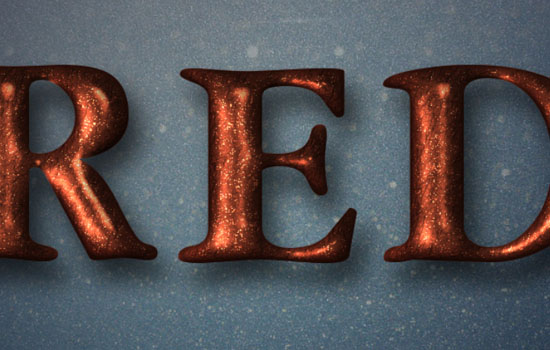 Glittering Red and Melting Ice Text Effect step 6