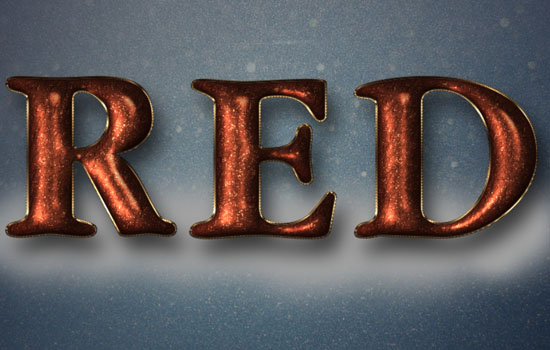 Glittering Red and Melting Ice Text Effect step 8