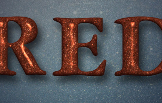 Glittering Red and Melting Ice Text Effect step 5