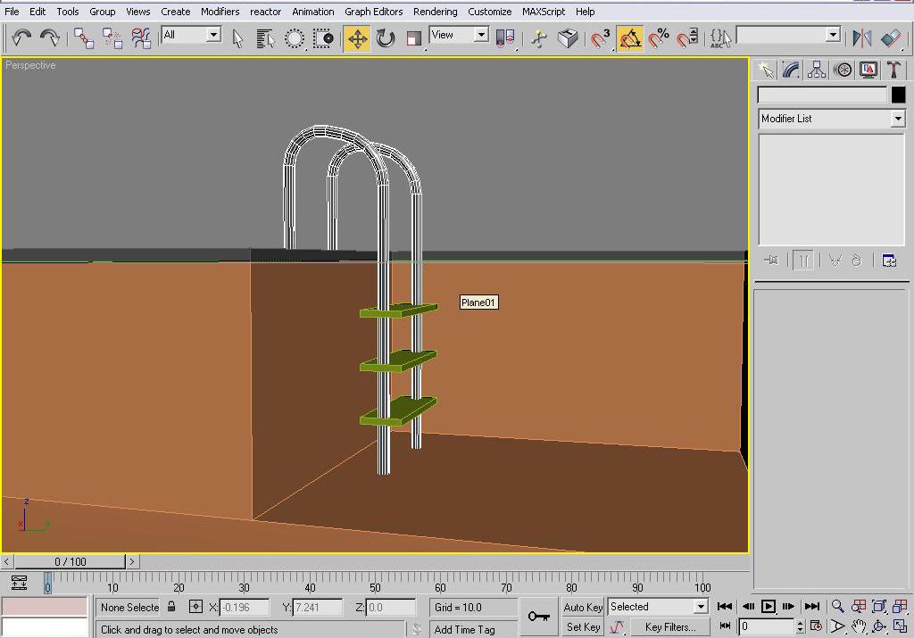 二十一步3ds MAX游泳池实例建模教程
