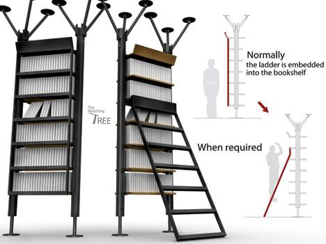 创意书架设计案例欣赏之梯子与书架不得不说的故事