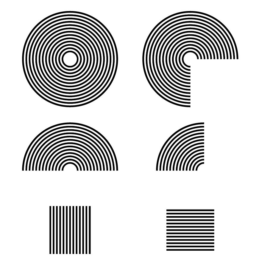 Illustrator制作线性条纹几何艺术图案