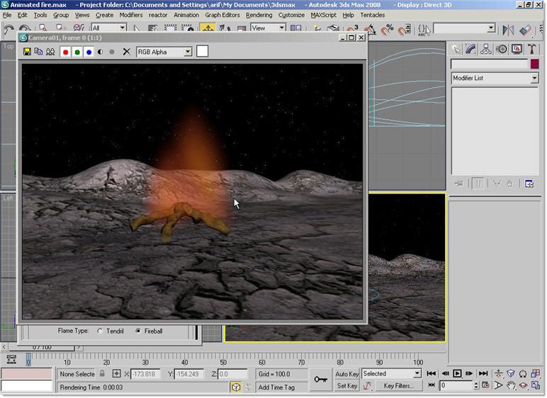 三十九步教你用3ds MAX制作火焰动画