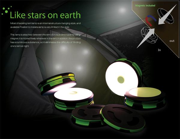 创意照明工具帐篷设计,新奇帐篷专用照明灯具