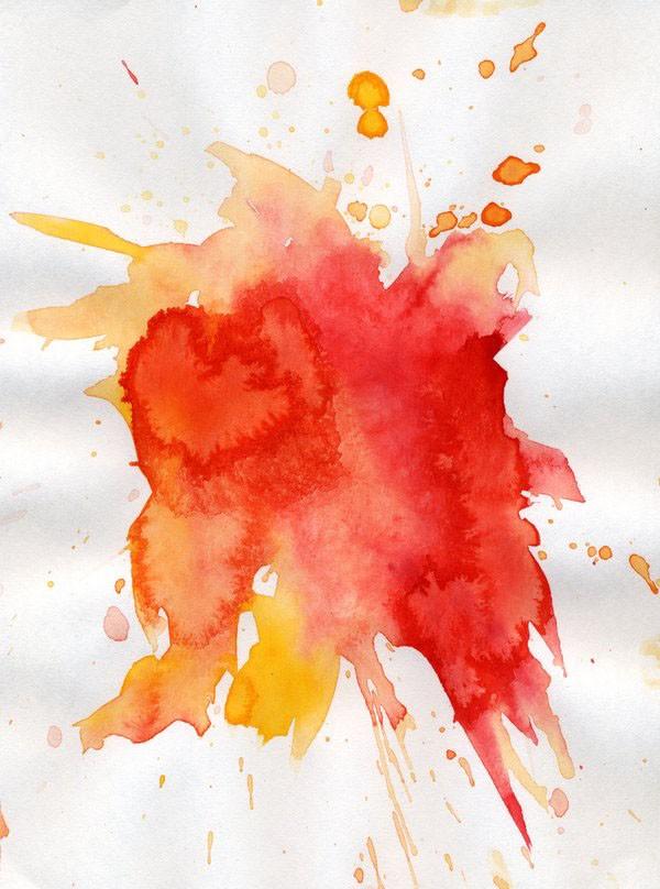 然后再用素材增加颜色和水墨效果,这样就可以做成一张炫丽的水彩画了.