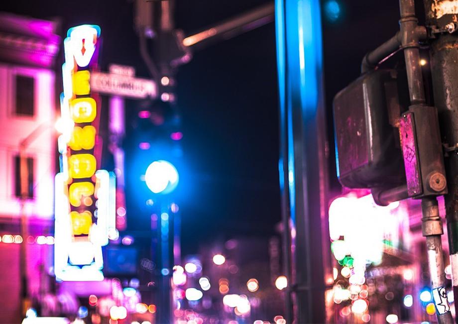 好玩的马赛克,PS制作城市霓虹马赛克背景