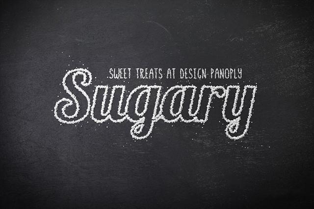 字体设计图文教程,PS制作结霜的糖果字效果