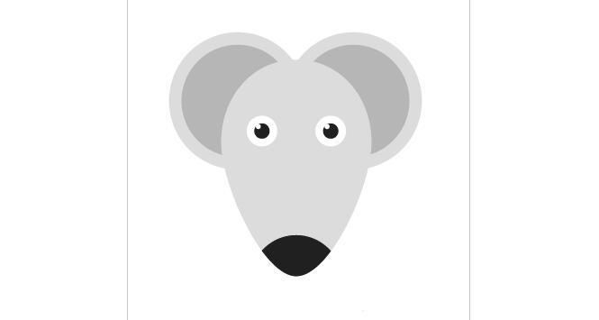 ai怎么绘制图标,ai绘制可爱的老鼠头像图标教程