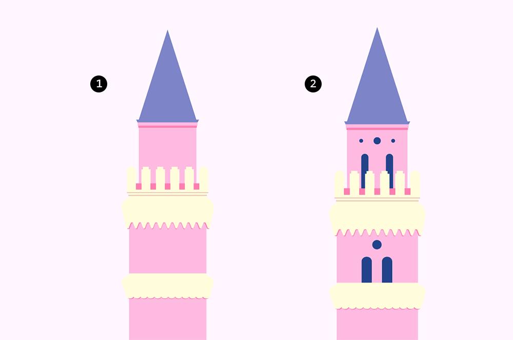 AI绘制精致逼真梦幻水上城堡群像教程