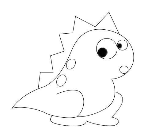 ps绘制教程,ps怎么画小恐龙简笔画